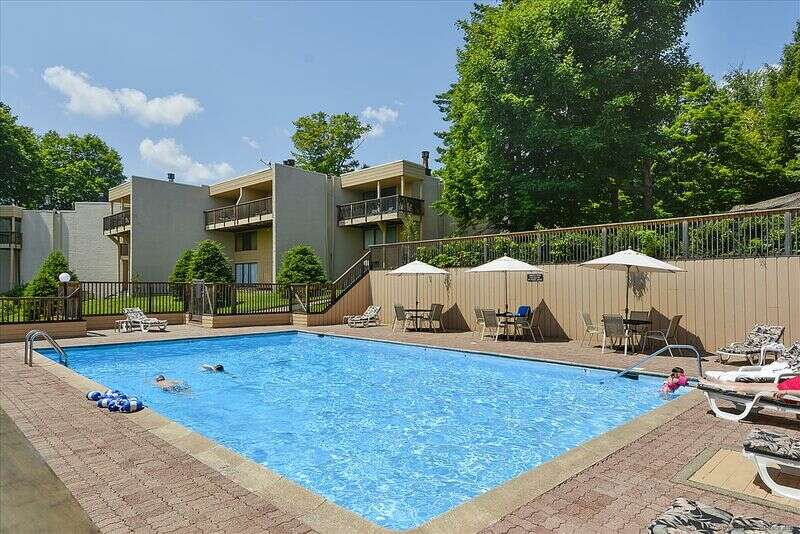 Enjoy a cozy fire on a cold winter night in this condo. This condo has a fully equipped kitchen and the dining room seats eight guests comfortably. This two bedroom condo has king master suite and a second bedroom with twin beds and a full bath. Notchbrook Condo #28AB has wirless internet access and coin operated washing machines in the nearby canteen. You will appreciate the location of this updated condominium and all the amenities that the Notchbrook complex has to offer.