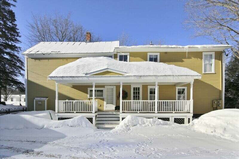 Enjoy all that Stowe Village offers from this unique Village farmhouse. Walk to fine dining, shopping, ice skating, and the free shuttle from this duplex that's broken into 2 units. For winter sports enthusiasts the closest Mountain Road shuttle stop is only 0.1 miles from the door! The main unit has 3 bedrooms and 2 bathrooms, and the second unit is a 1 bedroom and 1 bathroom apartment. This set-up is ideal for extended family or friends who just need a little added privacy. Beautifully redone inside and out, with premium new furnishings artistically mixed with fine antiques, this home is both cozy and roomy and appeals to those looking to get away from it all yet have everything right at their fingertips.