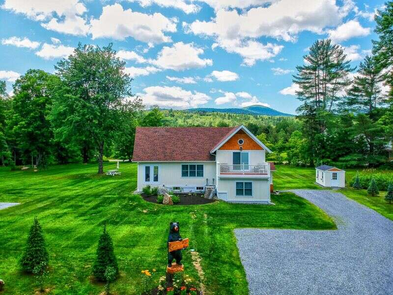 Imagine, waterfront in Stowe! With West Branch River frontage, just off the Mountain Road, this newly renovated home is just that! With an open LR/DR/KIT complete with sliders to a supersized 3 season porch, entertaining couldn't be easier. Add to that a private 2-acre large flat yard and let the games begin! Bocce anyone, softball, soccer ...or how about a picnic or float down the river? How many times can you skip a rock across the gleaming water? Rec path, just across the river, restaurants, shops, recreation, and services nearby. Park the car in the driveway and explore the Mountain Road Marketplace, from the Alchemist to Stowe Bowl and everywhere in between.For winter sports enthusiasts, the closest Mountain Road shuttle stop is only 0.2 miles from the door. This little gem is simply awesome, and at the end of the day, bedrooms aplenty! Spread across 3 floors with 3 full baths, 2 bedrooms even have their own private balconies. Separate large family room, plus a game room in the lower level. Large laundry room with brand new appliances. Each living space and all 3 bedrooms have flat screen Samsung smart TV's and high-speed Google Wi-Fi throughout. Central A/C for hot summer days. Outdoor dining and a brand new 6-person hot tub to relax! Queen sleeper sofa in family room plus 2 additional convertible sleeper chairs available if needed. Mountain Views!