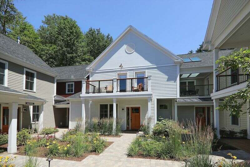 Newly built in 2018, this condo located in the Village Walk Townhouses is an easy walk to Stowe's popular dining and shopping establishments. For winter sports enthusiasts, the closest Mountain Road shuttle stop is only 0.3 miles from the door. Explore Stowe Village without the car! After enjoying all the fun Stowe has to offer, return home to your spacious new townhome with its luxurious furnishings. With king and queen sized beds in the master and second bedroom, and full-sized bunk beds for the kids, this condo has enough space for the entire family. The sitting area also offers a pullout sofa for your guests. The kitchen is modern and bright, and offers plenty of space to cook and dine together. Enjoy this wonderful townhome in a great location that allows you to enjoy the best of Stowe!