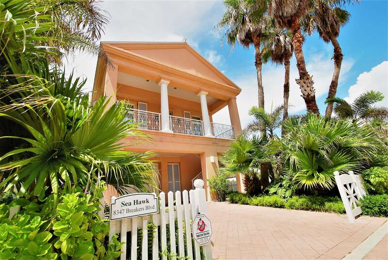 The Sea Hawk, an incredible 4 bedroom private beach house with pool and hot tub, Located within the Shores Subdivision