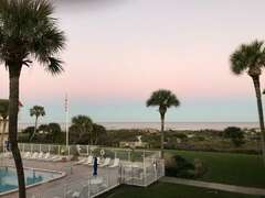Sunset at Spanish Trace, view from the balcony