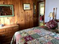Queen bed with pillow top mattress