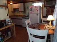 All the comforts of home in this fully equipped eat in kitchen