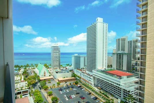 View from Lanai Towards Waikiki