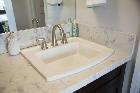 beautiful quartz vanity