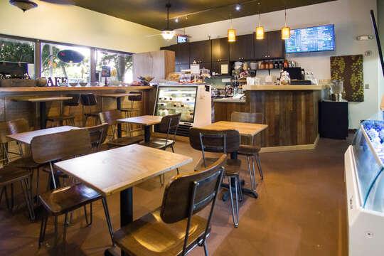 Coffee shop in lobby