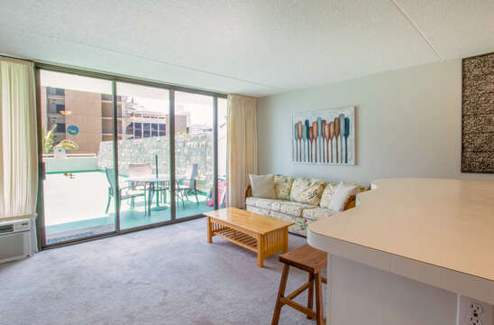 Great room with view of extended Lanai