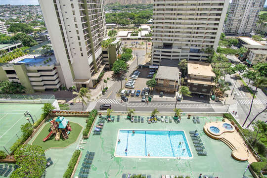 View of pool - level 6