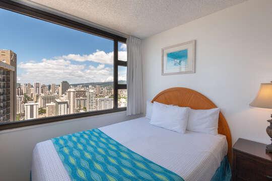 Bedroom city views