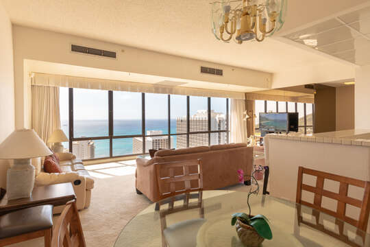 The most amazing views from any room in Waikiki!  Floor to ceiling windows in every room!  Absolutely stunning!