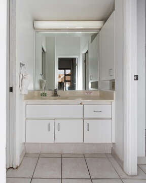 Bathroom with privacy door and 2 access doors