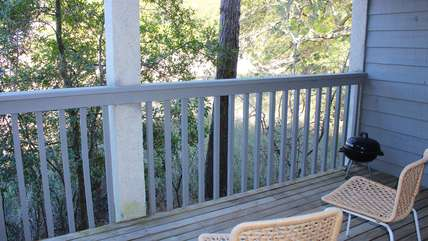 Relax on the deck off the master bedroom.