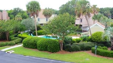 The pool area is perfect for family fun!