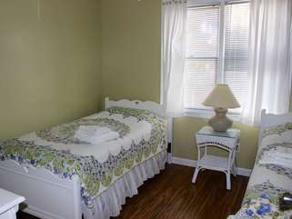 The 2nd bedroom has twin beds.