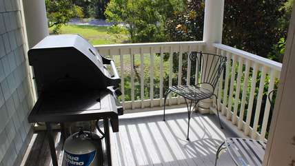 Barbecue your dinner on the propane grill.