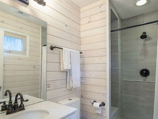 Everything is new in the master bathroom!