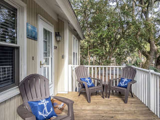 Enjoy relaxing on the front porch.