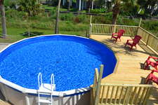 Your own private pool and adjoining deck.