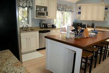 It will be easy to cook for the whole crew in this great kitchen.