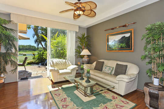 Living Room with View of Golf Course