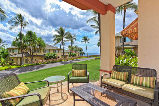The View from Your Lanai  Relax with Pupu's and Cool Beverage while Watching Sunset