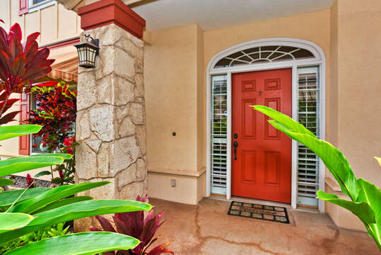 Private Entrance to the Home