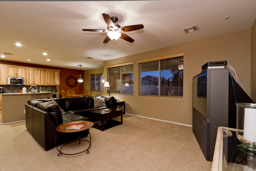 Large TV in family room
