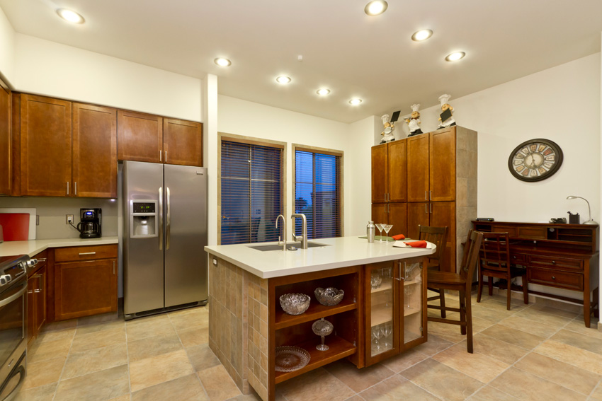 The spacious kitchen holds everything you need to whip up a great meal.
