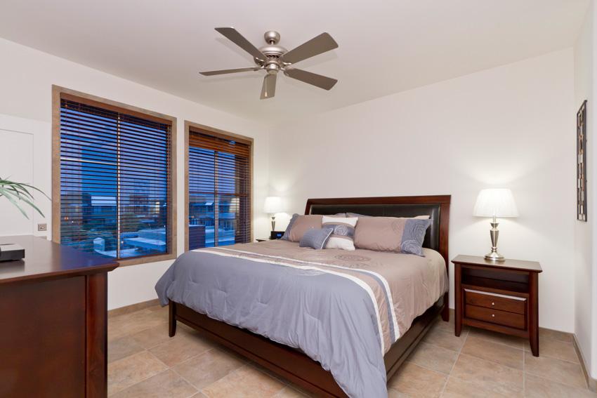 The master bedroom is fit with a king for a king (or the queen!).