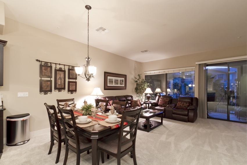 Dining and living space