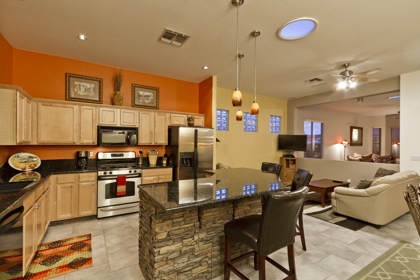 Kitchen and Family Room View