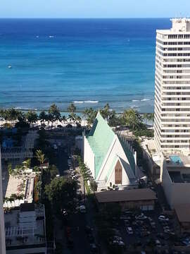 More ocean view!  Watch the fireworks right from the room!  Never have to leave to watch the parades or the fireworks!