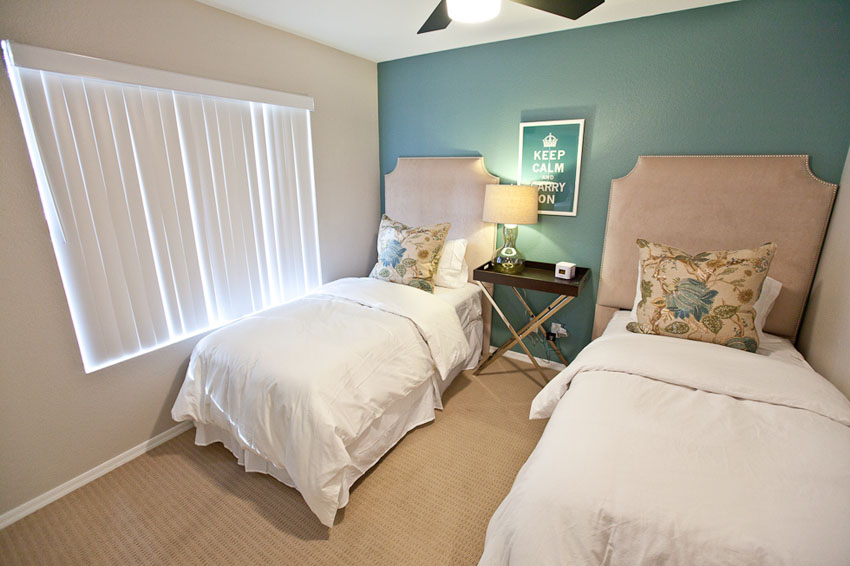 Bedroom three with  2 twin size beds