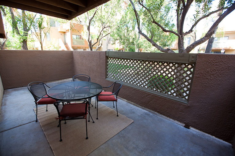 spacious private outside patio