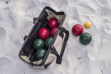 Custom Boccie Ball set for some competition on the beach!