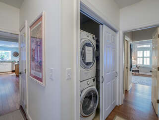 This villa has a full sized washer and dryer.