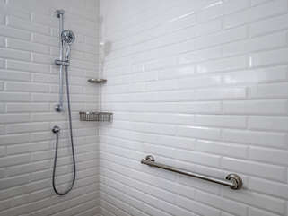 Large walk in shower in the master bathroom!