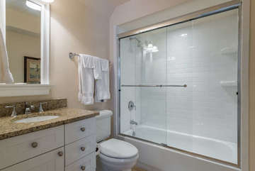 4th bathroom as a shower/tub combination.