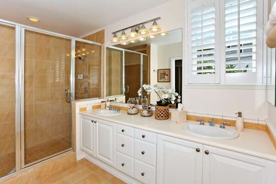 Master Bath with Walk-in Shower and Dual Sinks
