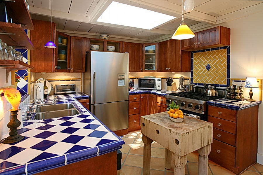 Custom designed kitchen with Viking stove