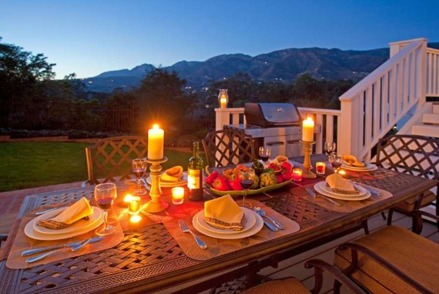 Dine al fresco on the central deck with views
