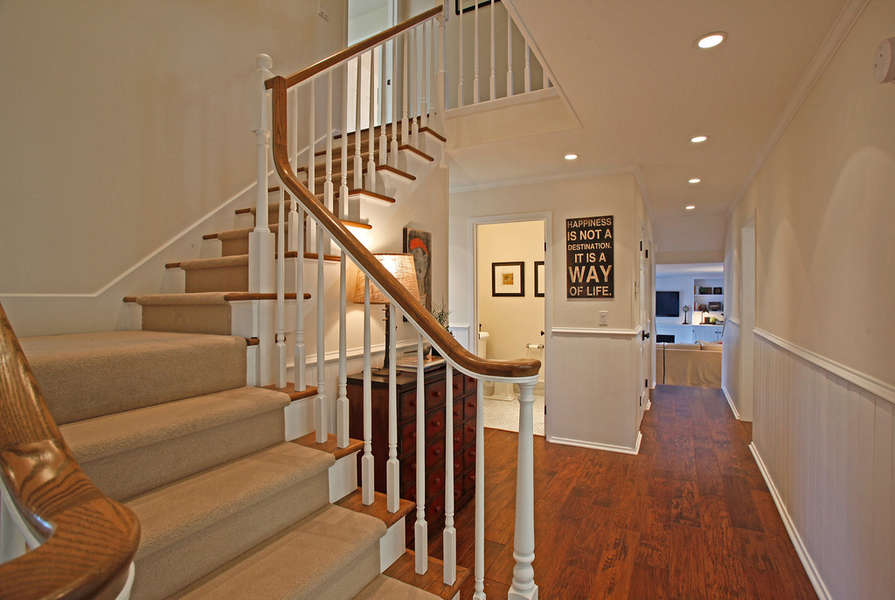 Entry stairs lead to 2nd floor bedrooms