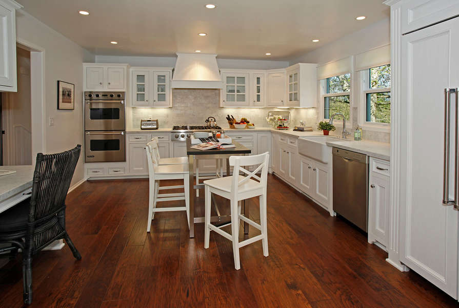 The all new kitchen is bright and welcoming