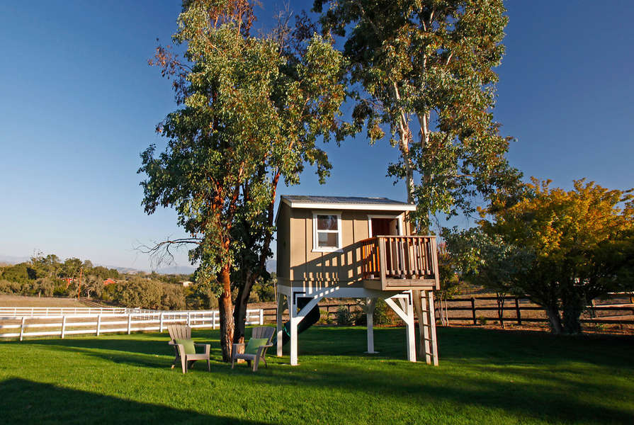 The kids will love the tree house!