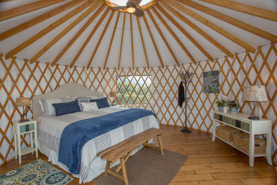 Take a nap in the Yurt after a relaxing swim!