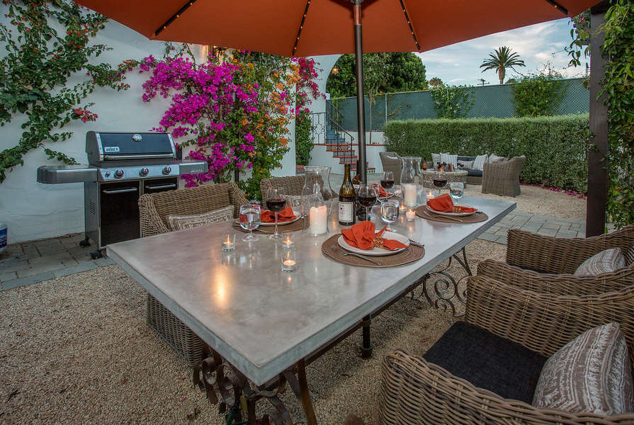 Dine outside on the wonderful patio