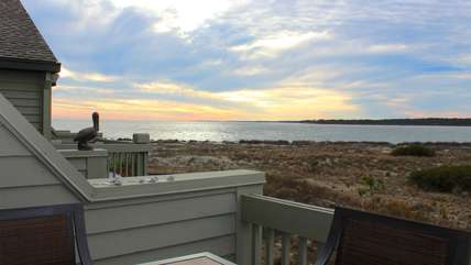 Each night, you will enjoy gorgeous sunsets from your deck.