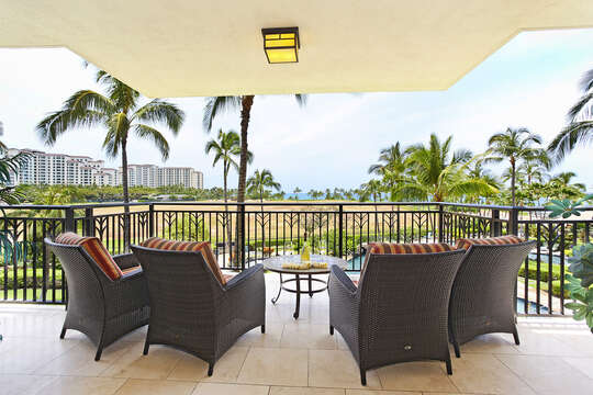 Although you're only on the third floor, you can enjoy a view of the ocean from you lanai