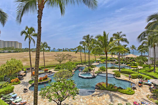 Pool and Ocean View from Lanai